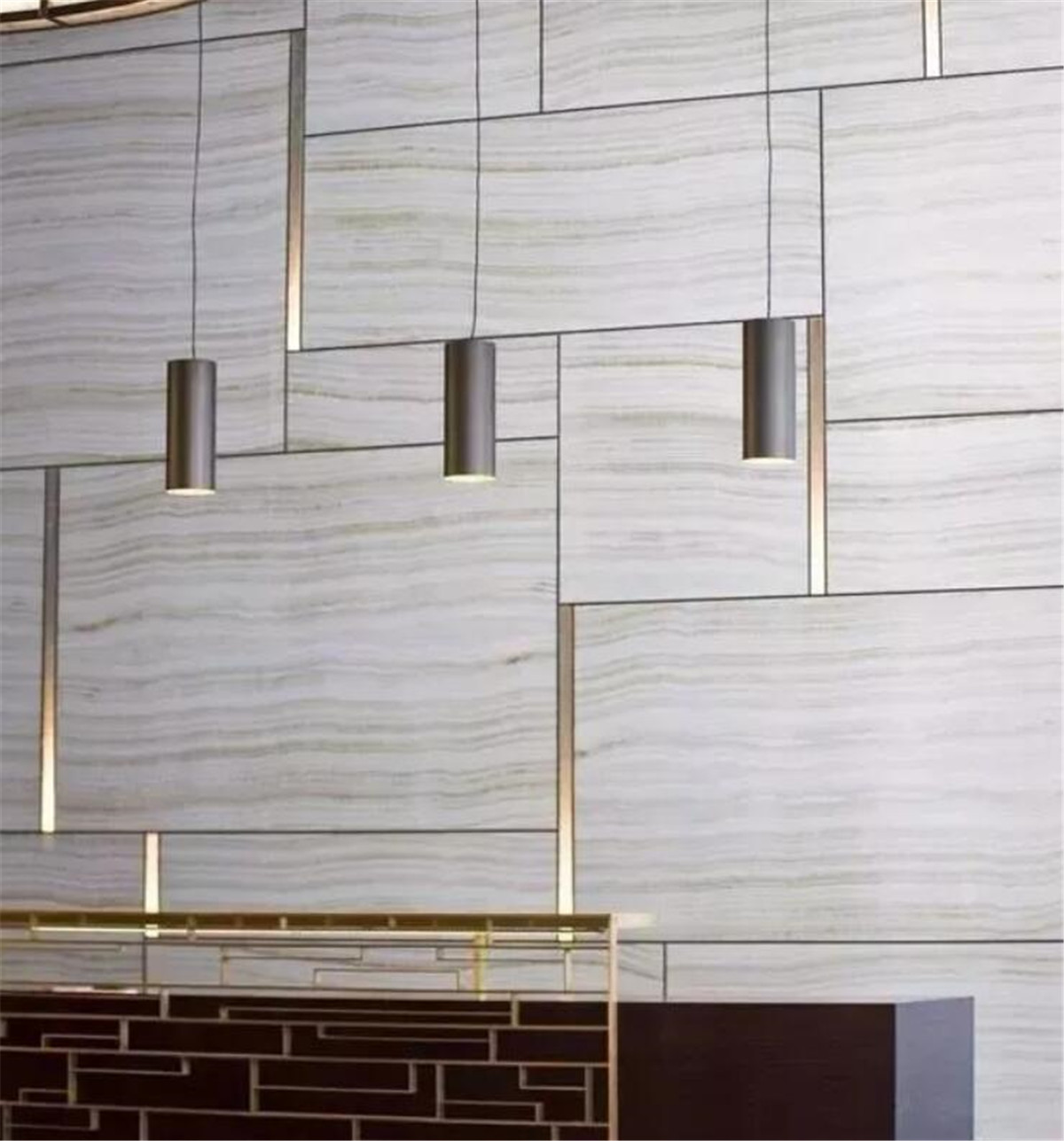 Marble Floor Copper Strip Inlay Design Reference